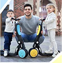 Mopoq Children's Scooter 5-in-1 With Intermittent Wheel With Three Wheels And Seat Adjustable Scooter 2 To 6 Years Old Boy...