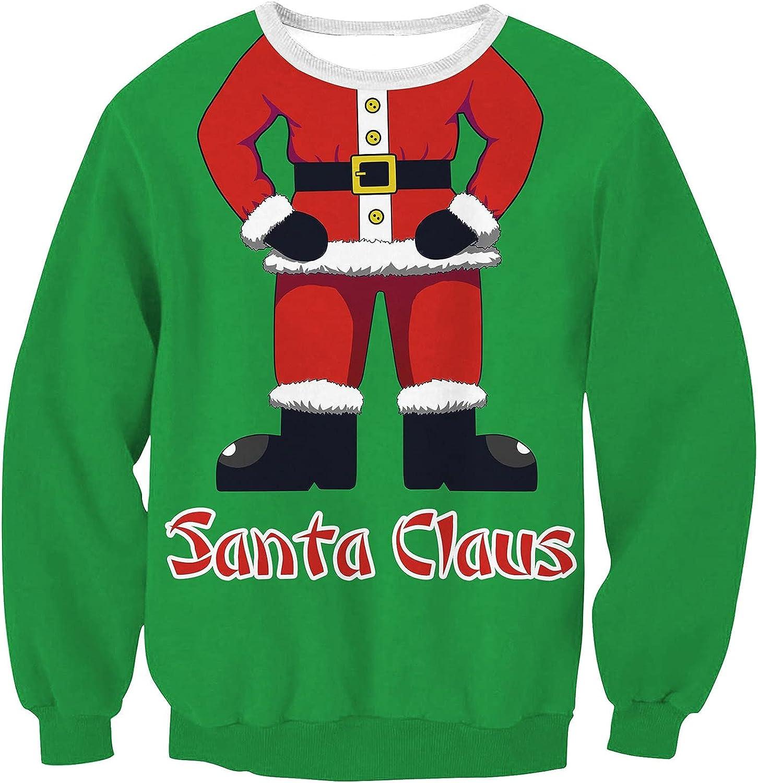 BOXIACEY Womens Casual Crewneck Sweatshirts Fashion Christmas Print Hoodies Pullover Loose Long Sleeve T-Shirts