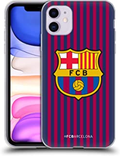 Official FC Barcelona Home 2018/19 Crest Kit Soft Gel Case Compatible for iPhone 11