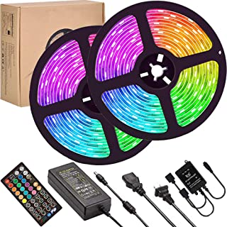 LED Strip Lights Sync to Music,UMICKOO 10M/32.8ft Flexible Strip Light SMD 5050 RGB 300 LEDs with Remote Controll, Multi-Color Changing Light Strips for Ceiling Bar Counter Cabinet Decoration
