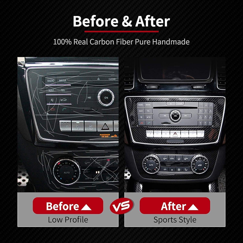 Farbe : Schwarz LWLD Auto Panel Aufkleber Kohlefaser Auto CD Klimaanlage Steuerung Flugzeug Aufkleber Innenzubeh/ör F/ür Mercedes Benz Gle Coupe C292 GLS ML X166 Autopaneelrahmen