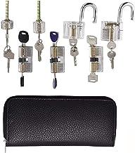 Practice Pickset voor lockmith, beginnersgereedschap met verschillende combinaties van transparante sloten, gereedschapsse...