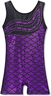 featured product Leotard for Girls Gymnastics Toddler Biketards Shorts Shiny Scale Diamond Embroidery