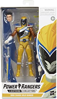 """Power Rangers Lightning Collection 6"""" Dino Charge Gold Ranger Collectible Action Figure Toy with Accessories"""