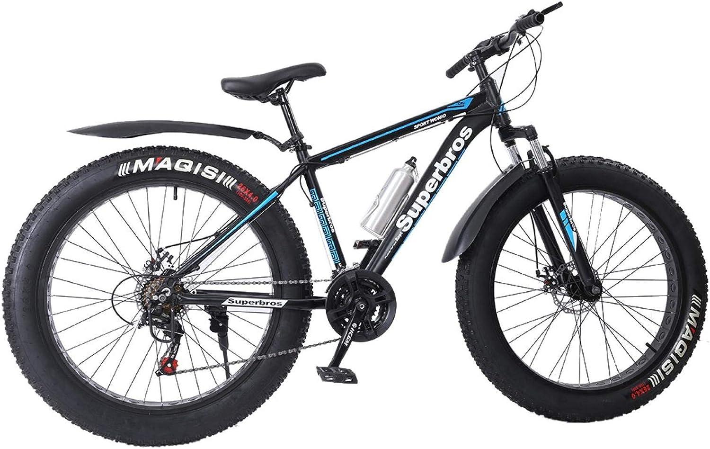 17-Inch//Medium High-Tensile Aluminum Frame Fat Tire Mens Mountain Bike 21-Speed 26-inch Wheels