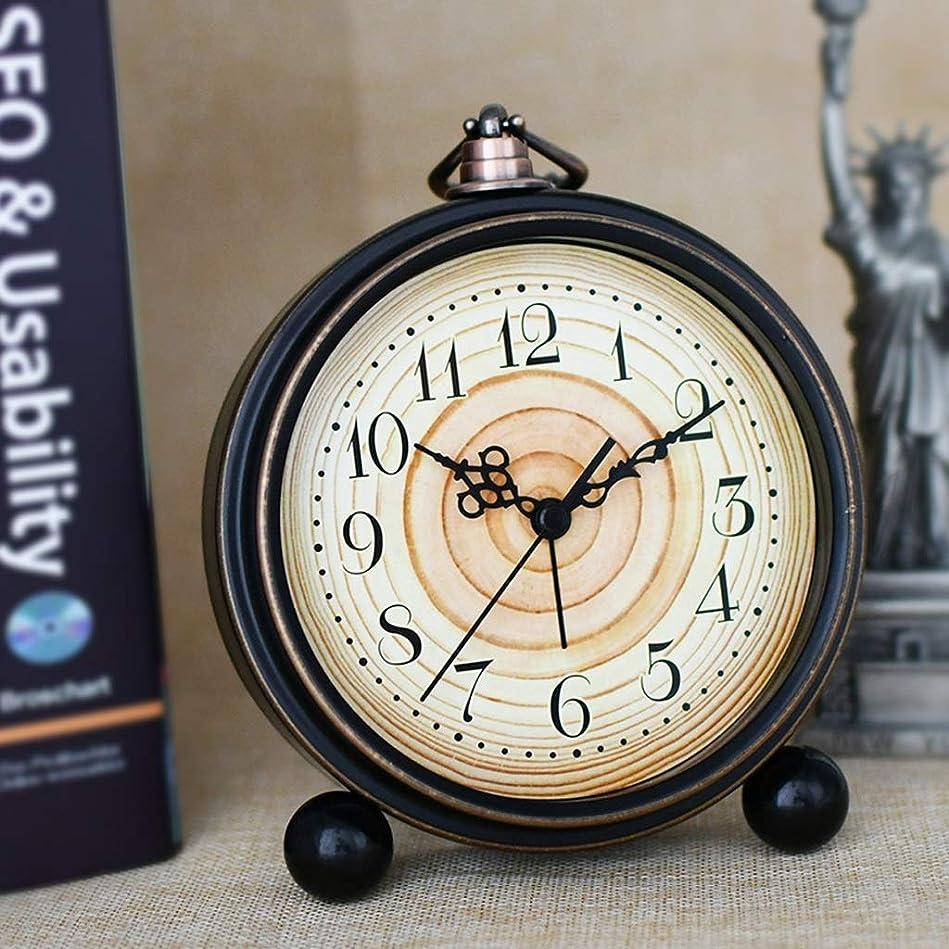サンダー酸化するボーカルシンプルなベッドサイド小さな目覚まし時計ファッションの家時計ヨーロッパのレトロな居間目覚まし時計クリエイティブな学生の目覚まし時計