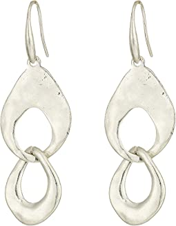 Linked Double Drop Earrings