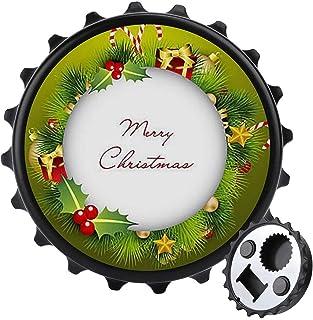 Julkrans flasköppnare ett lock multifunktion ölflasköppnare, möbler kylskåp dekoration klistermärke