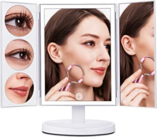 MAKARTT Lighted Makeup Mirror 2017 Newest 5 in 1 Vanity Mirror with Touch Sensor, 1x/3x/5x/10x Magnification and USB Charging, 360。 Adjustable Stand for Countertop Cosmetic Makeup (White)