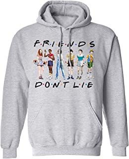 Funny Graphic Hooded Casual Pullover Unisex Don't Lie Printed Sweatshirt for Women Men Boys Girls