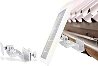Wasserstein Gutter Mount Compatible with Ring, Arlo, Reolink Cams & Compatible Solar Panels (White)