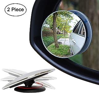"Ampper Blind Spot Mirror, 2"" Round HD Glass Frameless Convex Rear View Mirror, Pack of 2"