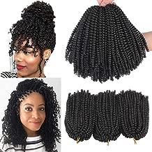 Xtrend 3 pcs 8 inch Spring Twist Crochet Hair Passion Twist Synthetic Braiding Hair Extensions Fluffy Spring Twist Braids hair 110g/pcs 2#