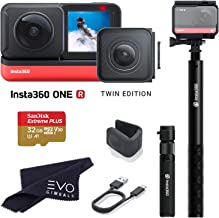$544 » Insta360 ONE R Twin Edition - Super 5.7K Dual-Lens 360 Camera + 4K Wide Angle 60FPS with Bullet Time Kit with 32GB Memory Card (3 Items)