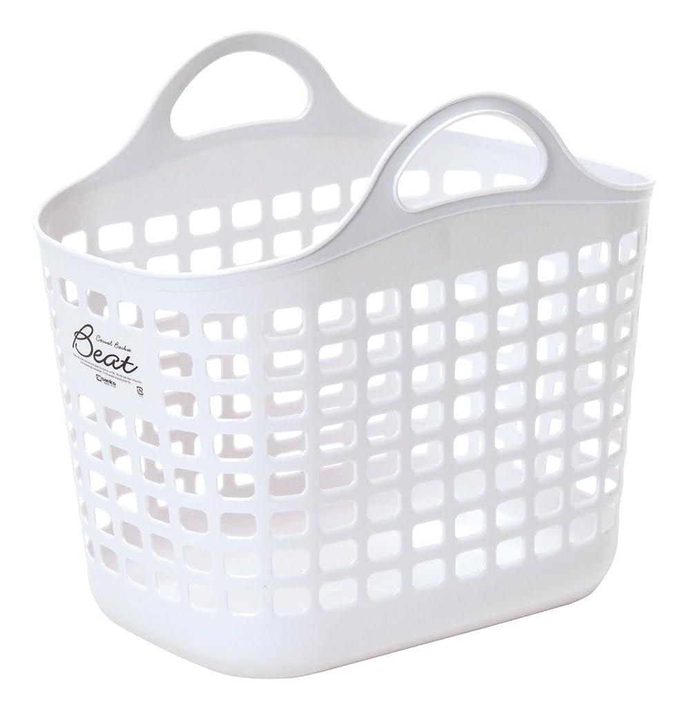 岸注入減少サンコープラスチック 日本製 ランドリーバスケット ビート バスケット No.1 ホワイト