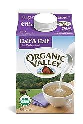 Organic Valley, Organic Half & Half, Ultra Pasteurized, Pint, 16 oz
