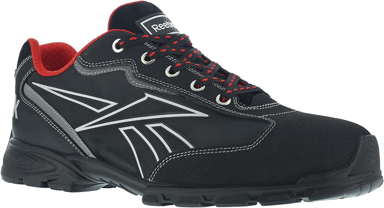 REEBOK WORK IB1011 S3 Audacious Sport Work shoes, Aluminium Toe, Waterproof, Size 43, Black Silver