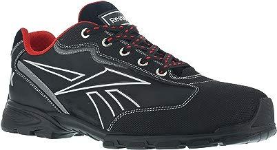 Reebok Work ib1011S342audaz deporte aluminio Toe zapato de trabajo, impermeable, 42, negro/plata