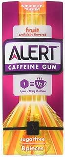 5 Gum Alert Caffeine Fruit Gum, 8 Piece Single Pack, 8 Count