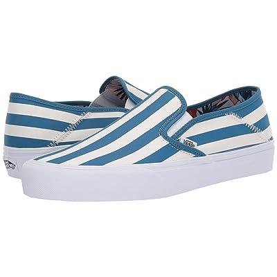 Vans Slip-On SF ((Vintage Rio) Stripes/Blue Sapphire) Shoes