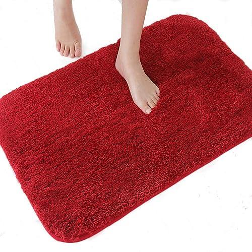 Red Bath Mat Amazoncouk