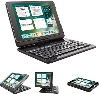 Lenrich iPad Mini 4 case with Keyboard 2015 7.9 inch, Ultra Slim 360 Degree Rotatable 180 Flip Swivel Wireless Keyboard Cover Folio Hard Shell Stand Auto Sleep Wake up Black