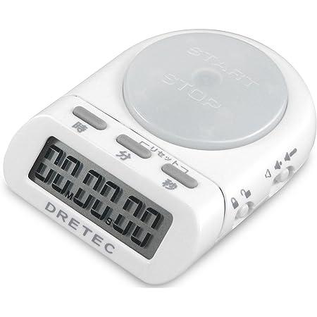 dretec(ドリテック) 学習用デジタルタイマー 最大セット時間99分59秒 タイムアップ 勉強 時間管理 ホワイト T-186WT