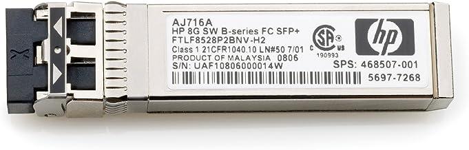 HP AJ716A 8GB Shortwave B-Series Fiber Channel 1 Pack SFP+ Transceiver