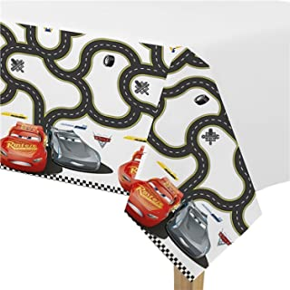 Boys Girls Disney Cars Racing Birthday Party Tablecover Tableware Decorations Celebration Lightning McQueen (Tablecover)