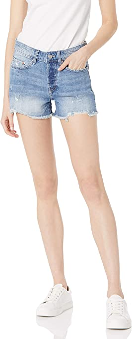 The Drop Women's Sasha Vintage Mid-Rise Button Fly Cutoff Denim Short