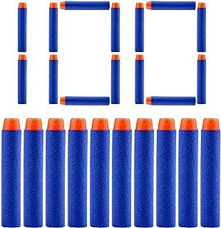 QUN FENG フォームダーツ EVA詰め替え弾丸 銃の弾丸 スポンジ弾 マイクロダーツ ソフト弾丸 交換用弾 エリートダーツ おもちゃの弾丸 繰り返し 円形弾頭 ソフト 中空 100弾入り ブルー