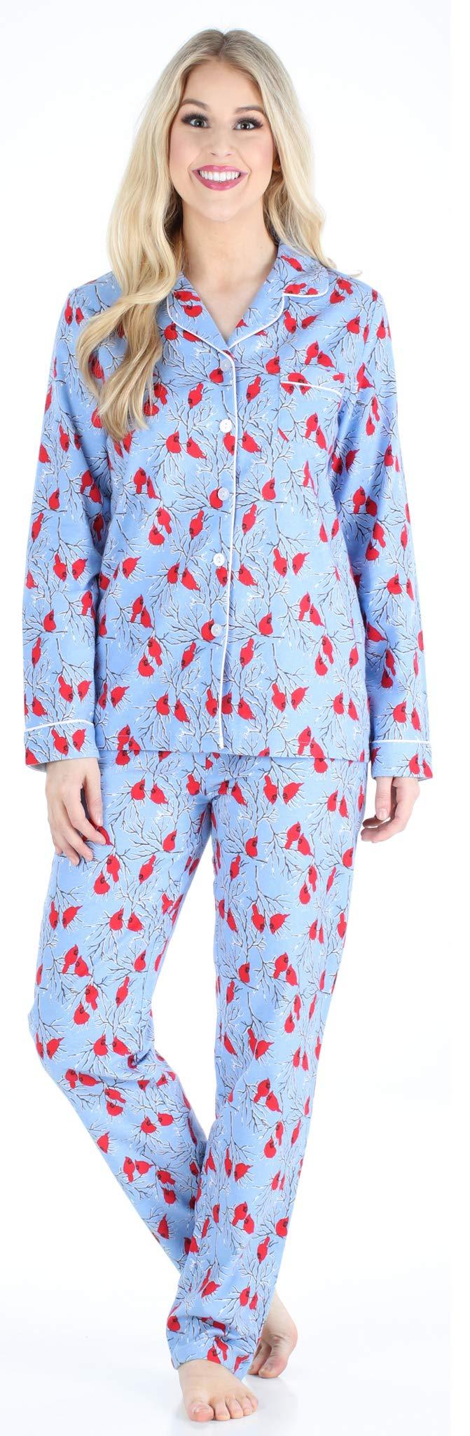 PajamaMania Flannel Pajamas Cardinals PMF1002 2032 LRG