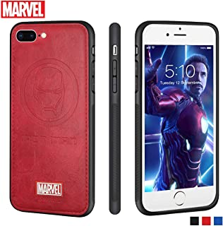 Marvel Avengers iPhone Leather Case Protective Cell Phone Case for Apple iPhone 8 Plus/iPhone 7 Plus Marvel Avengers Comic Super Hero Inspired Series 3D Premium Scratch-Resistant (Iron Man)