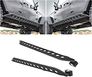 GSI Black Textured Body Side Armor Rocker Guard Rock Sliders 4 Door Tube for 07-17 Jeep Wrangler JK