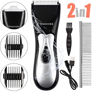 SNAHIKE Cat Shavers, Professional Dog Cat Grooming Kit, Low Noise Rechargeable Cordless Pet Hair Grooming Shavers