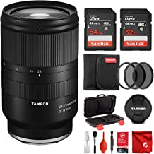 Tamron 28-75mm F/2.8 for Sony Mirrorless Full Frame E Mount Lens Bundle with 64 & 32 GB Memory Cards Filter and Cleaning Kit