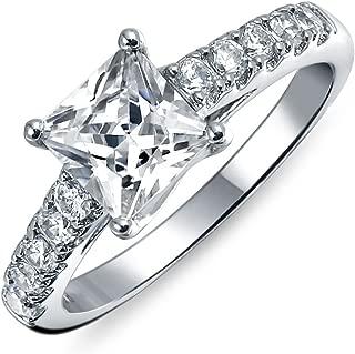 Véritable Baguette Diamant 14K Solide Or Jaune minimaliste Band Bague Bijoux