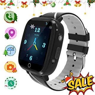 Kids Smart Watch with GPS Tracker,Kids Smartwatch Waterproof,HD Touch Screen Pedometer Fitness Tracker Camera,Watch Wrist Digital Watch Android Phone,Sport Smartwatch for Girls Boys Black