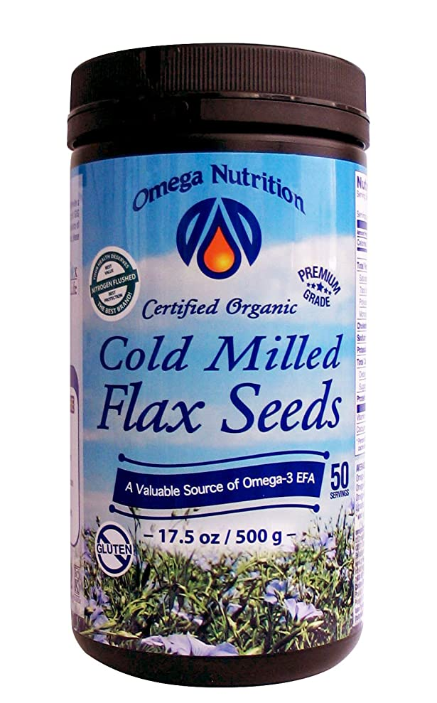 ケーブル拍車報酬海外直送品Omega Nutrition Cold Milled Flax seeds, 17.5 Oz