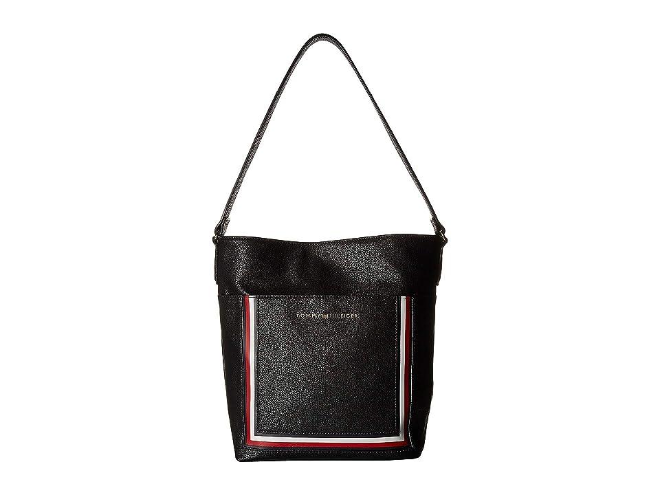 Tommy Hilfiger Carmen Hobo (Black) Hobo Handbags