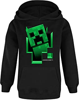 Minecraft Hoodie Boys Kids Gamer Black Creeper Inside Sudadera con Capucha