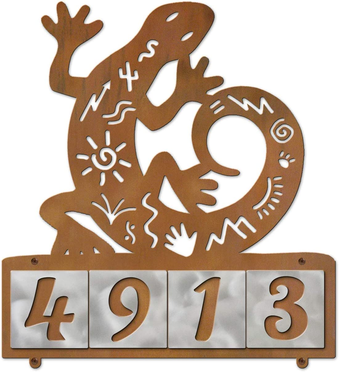 Cold Nose Creations Gecko Tales Rustic Metal Max 85% OFF Plaque Horizon with High material