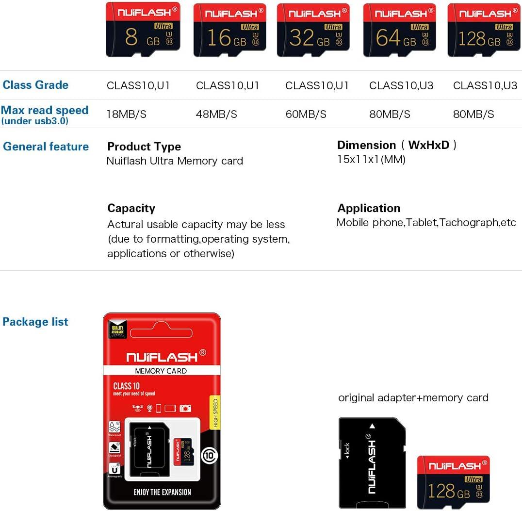 Micro sd Card128GB Memory Card,TF Card 128gb,Micro Sd Card Class 10 with A Free Card Adapter(128GB)