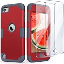 iPod Touch 7 Armor Case with 2 Screen Protectors, IDweel 3 in 1 Hard PC Case + Silicone Shockproof for Kids Heavy Duty Har...