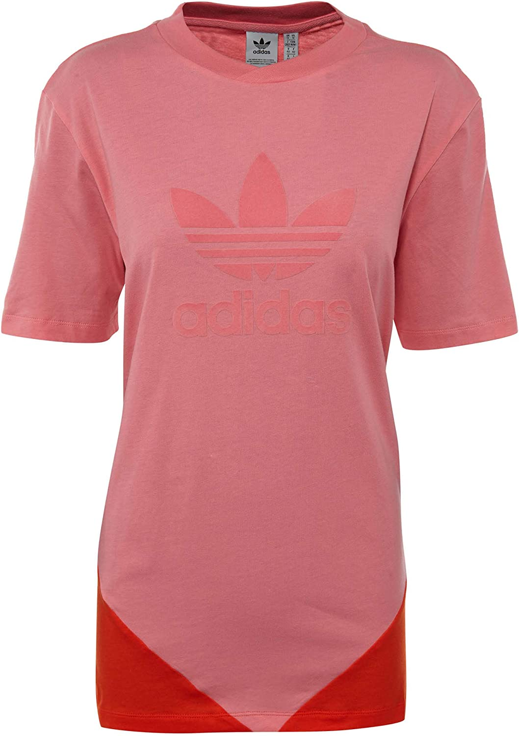 Adidas Originals Women's CLRDO Tee Chalk Pink Bold orange Medium