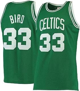 165~170cm//50~65kg Camiseta Sin Mangas Unisex,A,S GIHI Jersey De La NBA De Los Hombres NBA Boston Celtics Larry Bird # 33 Fan Jersey Retro Bordado Malla Baloncesto Ropa De Entrenamiento