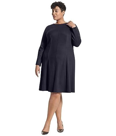 M.M.LaFleur Plus Size Ellis Dress Textured Ponte