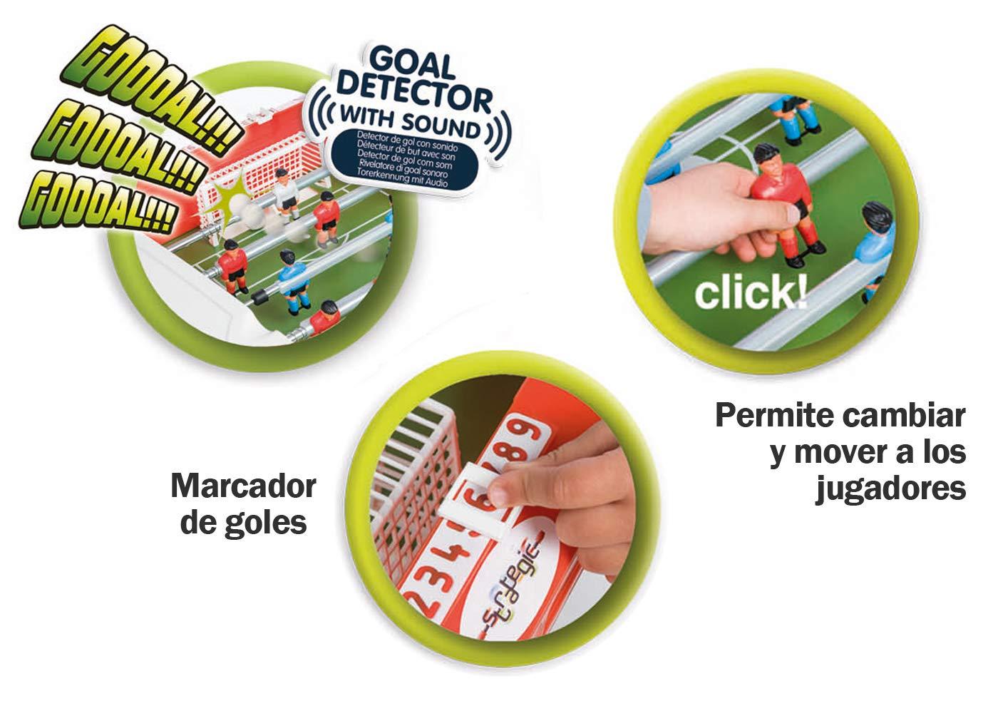 Chicos-72509 Strategic Supercup Futbolín Infantil Electrónico con ...