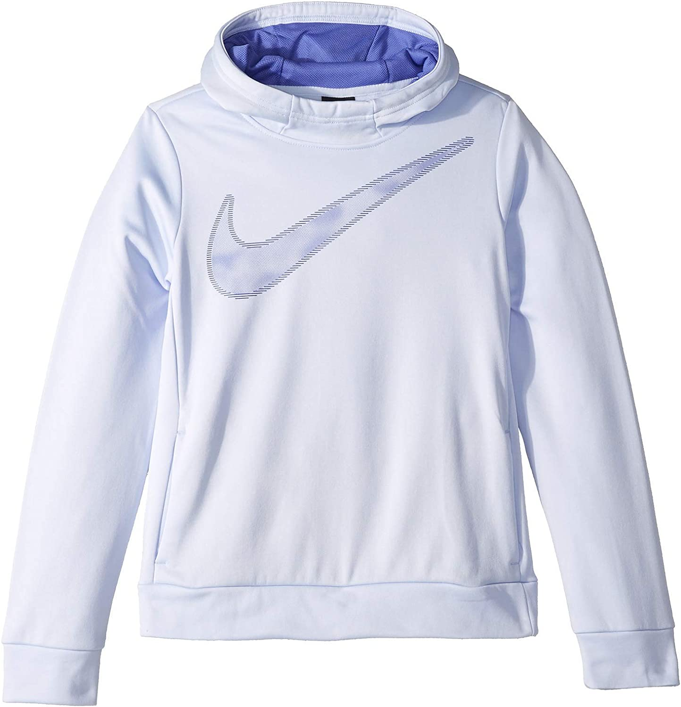 Nike Kids Girl's Therma Pullover Hoodie (Little Kids/Big Kids) XL Lilac Purple