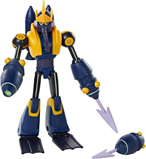 Mega Man Fully Charged – Wave Man Articulated Action Figure with Wave Man Buster Accessory (to swap onto The Mega Man Figure)! Based on The New Show!